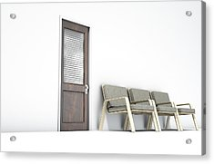 Waiting Room With Chairs Acrylic Print by Allan Swart