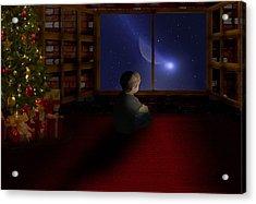 Waiting Santa Acrylic Print