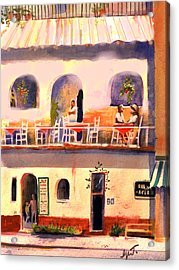 Acrylic Print featuring the painting Waiting Tables by Gertrude Palmer