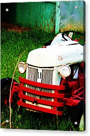 Waiting To Plow Acrylic Print by Beverly Hammond