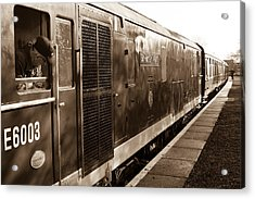Waiting To Pull Out Of Blundson Station At Swindon And Cricklade Railway Acrylic Print by Steven Sexton