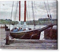 Waiting To Sail Acrylic Print by Jeff Kolker