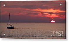 Waiting To Sail Acrylic Print by Michael Mooney