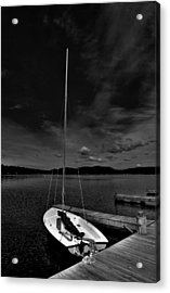 Waiting To Sail On Fourth Lake Acrylic Print by David Patterson