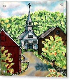 Waits River Church Acrylic Print by Linda Marcille