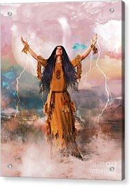 Wakan Tanka The Great Spirit Acrylic Print by Shanina Conway