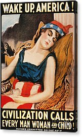 Wake Up America Poster Acrylic Print by Granger