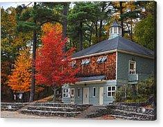 Walden Pond Bath House Concord Ma Acrylic Print