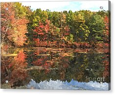Walden Pond Acrylic Print by Bryan Attewell