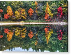 Walden Pond Fall Foliage Concord Ma Reflection Acrylic Print by Toby McGuire