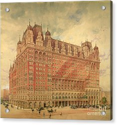 Waldorf Astoria Hotel Acrylic Print by Hughson Frederick Hawley