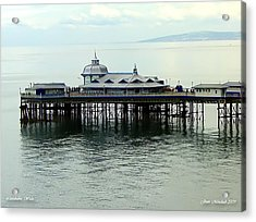 Acrylic Print featuring the photograph Wales Boardwalk by Joan  Minchak