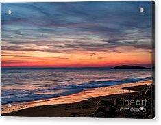 Wales Gower Coast Dusk Acrylic Print