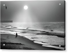 Acrylic Print featuring the photograph Walk Beneath The Moon by Karen Wiles