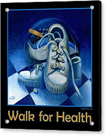 Walk For Health Poster Acrylic Print