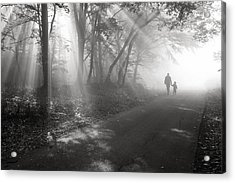 Walk In The Light Acrylic Print by Floriana Barbu
