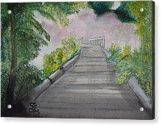 Walk In The Mist Acrylic Print by Carole Robins
