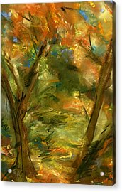 Acrylic Print featuring the painting Walk In The Park by Marilyn Barton