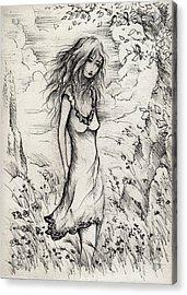 Walk In The Whispers Acrylic Print by Rachel Christine Nowicki