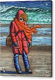 Walk On Beach Acrylic Print