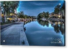 Walk On The Canal Acrylic Print