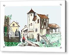 Walk Through Town Acrylic Print