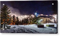 Walk To The Ski Hills Acrylic Print by Jeff S PhotoArt