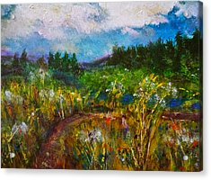 Acrylic Print featuring the painting Walk With Me by Claire Bull