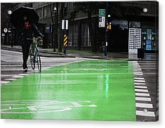 Acrylic Print featuring the photograph Walk With Wheels  by Empty Wall