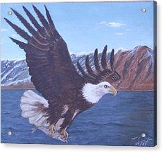 Walker Lake Acrylic Print by KC Knight