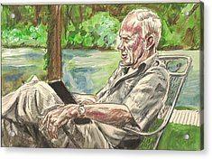 Walker Percy At The Lake Acrylic Print
