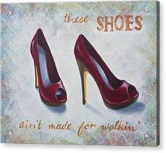 Walkin' Shoes Acrylic Print by Nicola Hill