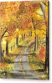 Walkin Acrylic Print by Vivian  Mosley