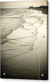 Walking Along The Beach At Sunrise Acrylic Print by Marilyn Hunt