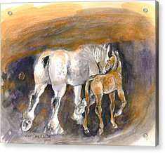 Walking Away Acrylic Print by Mary Armstrong