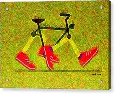 Walking Bike - Da Acrylic Print