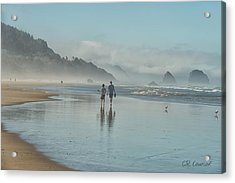 Walking Cannon Beach Acrylic Print