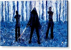 Walking Dead Michonne Art Painting Signed Prints Available At Laartwork.com Coupon Code Kodak Acrylic Print by Leon Jimenez