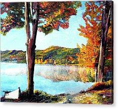 A Walk Down Lake Champlain Acrylic Print