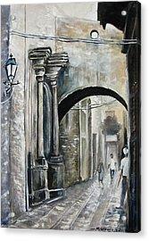 Walking Down The Street Acrylic Print