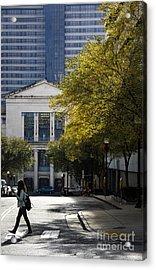 Walking Downtown Acrylic Print by Marina McLain