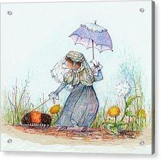 Walking Fuzzy Acrylic Print by Peggy Wilson