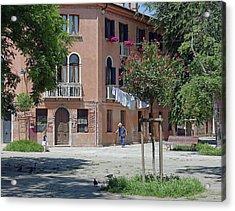 Walking In A Quiet Neighborhood On Murano Acrylic Print