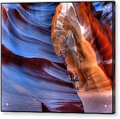 Walking In Antelope Canyon Acrylic Print