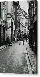 Acrylic Print featuring the photograph Walking In Gamla Stan by Louise Fahy
