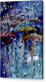 Acrylic Print featuring the digital art Walking In The Rainfall by Darren Cannell