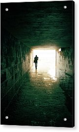 Walking Into The Light Acrylic Print by Carlos Caetano