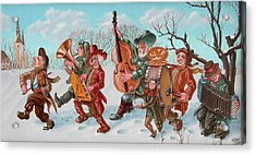 Walking Musicians Acrylic Print