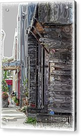 Walking Old Town Acrylic Print by Lori Mellen-Pagliaro