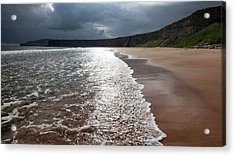 Walking On The Beach Acrylic Print by Contemporary Art